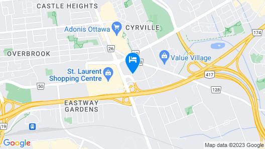 Holiday Inn Ottawa East, an IHG Hotel Map