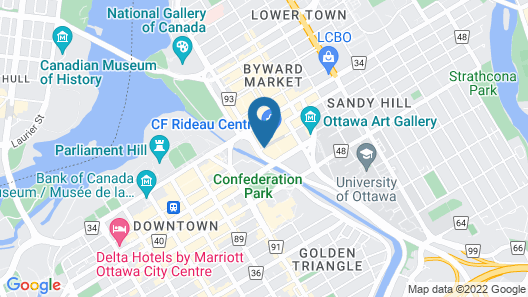 The Westin Ottawa Map