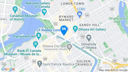 The Westin Ottawa Map