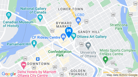Novotel Ottawa City Centre Map