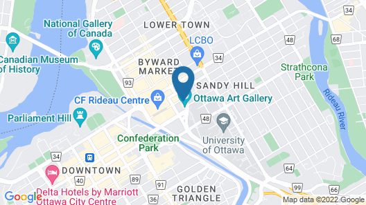 Le Germain Hotel Ottawa Map