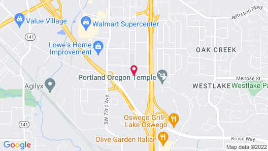 Extended Stay America Suites Portland Tigard Map
