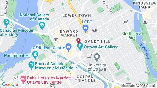 Les Suites Hotel Ottawa Map