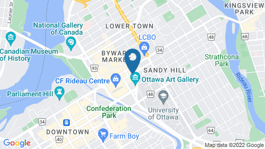 Les Suites Hotel Ottawa Map