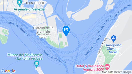 BoatHotels Marina Sant'Elena Venezia Map