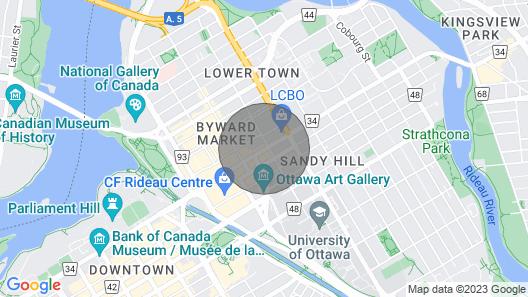 Luxury Downtown Ottawa Condo(Long term 6 months + walk everywhere) Map