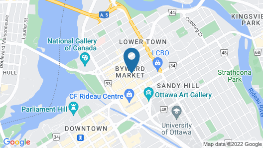 Andaz Ottawa Byward Market - a concept by Hyatt Map