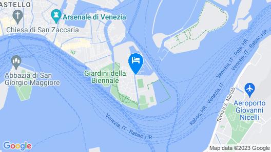 Venezia Boat & Breakfast Caicco Freedom Map