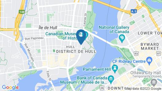 Four Points By Sheraton Gatineau-Ottawa Map