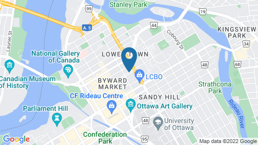 Ottawa Backpackers Inn Map