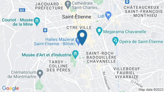 City Lofthotel Saint Etienne Map