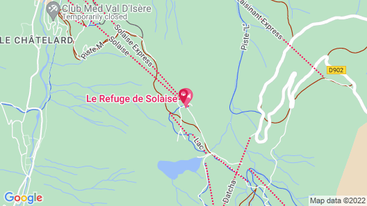 Le Refuge de Solaise Map