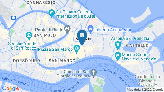 All'Angelo Art Hotel Map