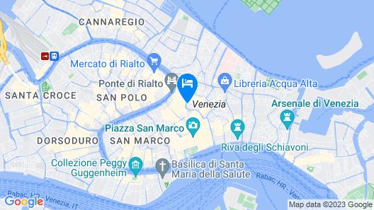 Ca' Foscolo Residence Map