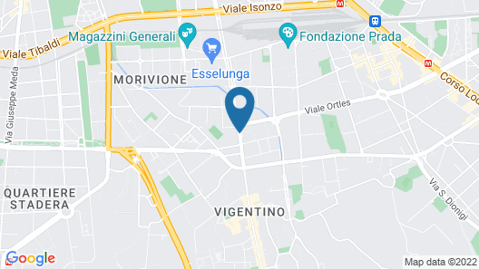 Bed & Bed In Milano Map