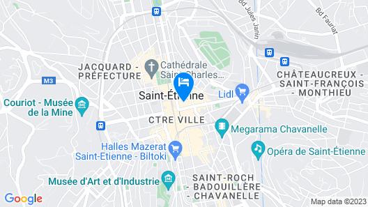 ResidHotel Saint Etienne Centre Map