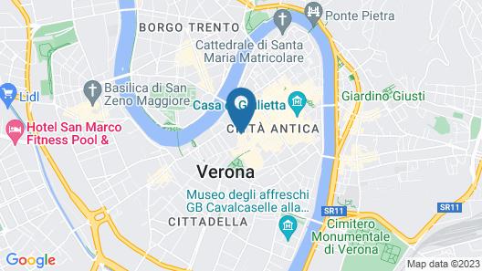 Oriana Suites Verona Map
