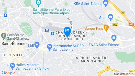 Hotel Kyriad Saint Etienne Centre Map