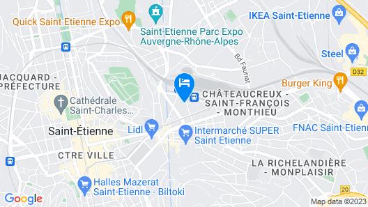 Ibis Budget Saint-Etienne Centre Gare Châteaucreux Map