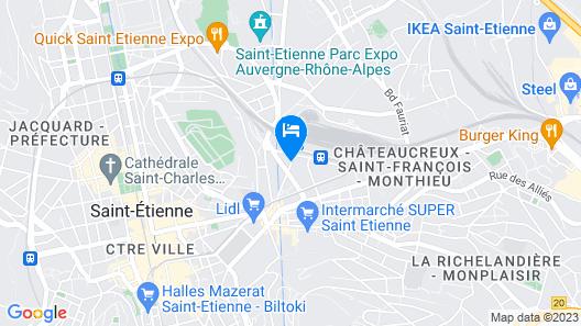 Terminus du Forez Saint Etienne Centre Map