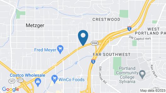 Motel 6 Tigard, OR - Portland Southwest Map