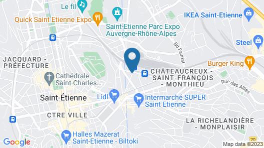 ibis Saint Etienne Gare Chateaucreux Hotel Map