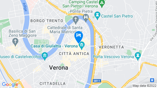 Historic Apartment in the Heart of Ancient Verona Map