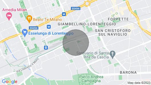 Naviglio Grande Double Apartment Map