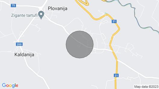 Exklusive 5 * Villa mit eigenem Tennisplatz, Pool, Sauna, Strand in der Nähe, Istrien Map