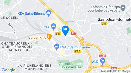 B&B Hotel Saint-Etienne Monthieu Map