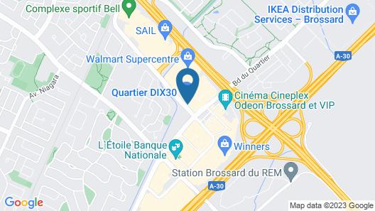 Escad Hotel Quartier Dix30 Map