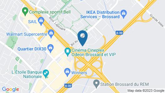 Courtyard by Marriott Montreal Brossard Map