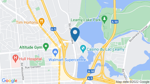 Hilton Lac-Leamy Map