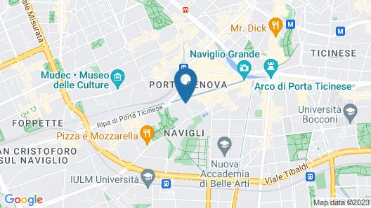 Art Hotel Navigli Map