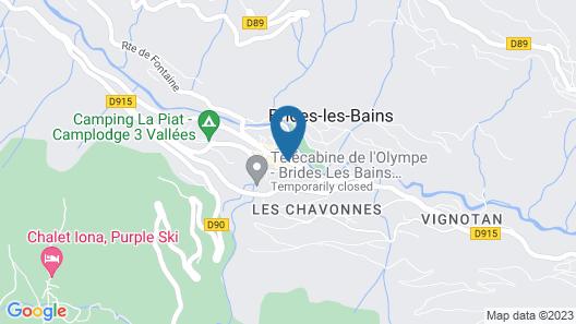 Mercure Brides Les Bains Grand Hotel des Thermes Map