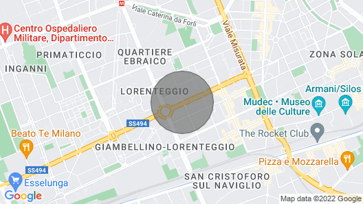 Bright attic in Milan Map