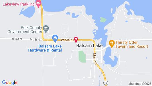 Balsam Lake Motel Map