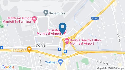 Sheraton Montreal Airport Hotel Map
