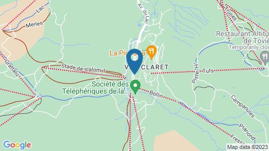 CGH Résidences & Spas La Ferme du Val Claret Map