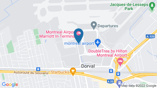 Montreal Airport Marriott In-Terminal Hotel Map