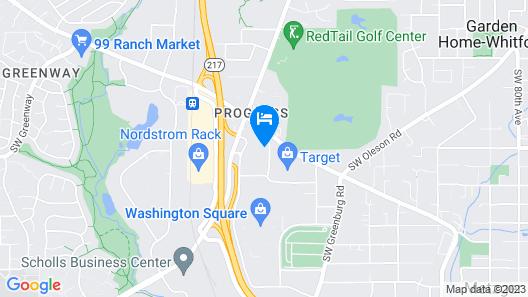 Embassy Suites by Hilton Portland Washington Square Map
