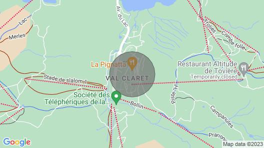 Chalet Phoebe, Tignes Map