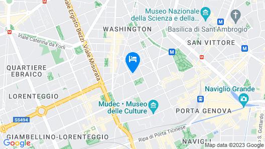 Modigliani Milan Navigli Holiday Home Map