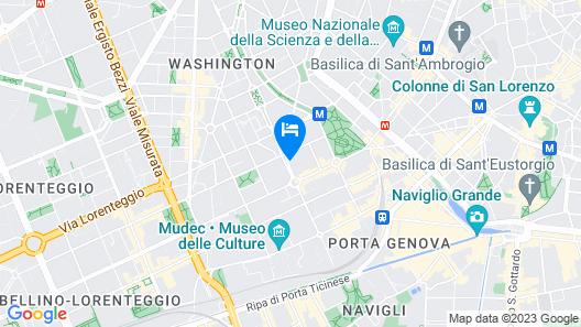 NEW! Tortona Design two-room apartment, Navigli, P. ta Genova Map