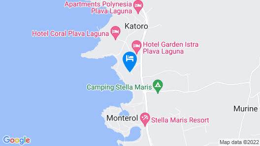Hotel Sol Aurora For Plava Laguna Map