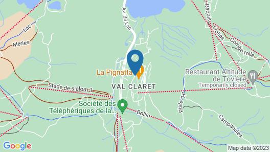 Résidence Le Borsat - Tignes Val Claret Map