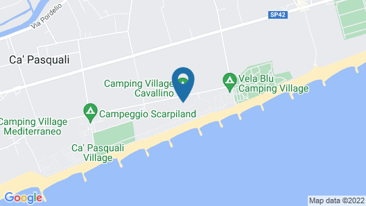 Victoria Mobilehome Camping Village Cavallino Map