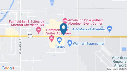 AmericInn by Wyndham Aberdeen - Event Center Map