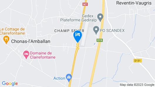 Relais 500 de Vienne Map