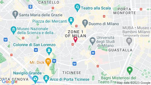 The Square Milano Duomo Map